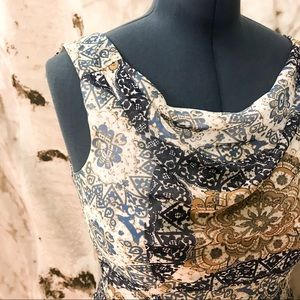 Beautiful Neutral Patterned Le Chateau Dress
